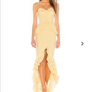 Lovers + Friends Melissa Gown yellow